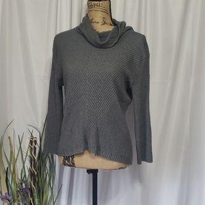 Jones New York Ribbed Asymmetrical Sweater